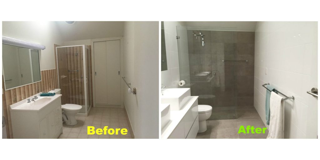 phillipson st main bathroom before after